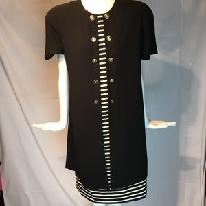 Evan Piccone button front yacht Club dress